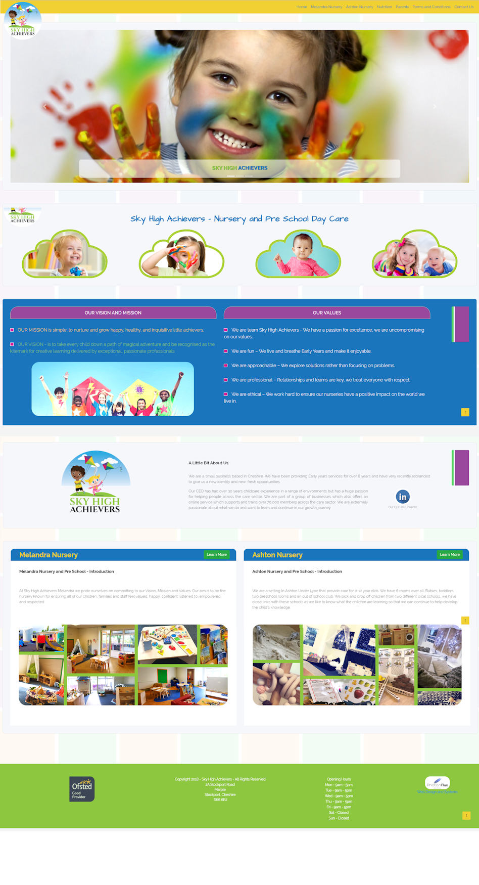 Nursery and Pre-school website design