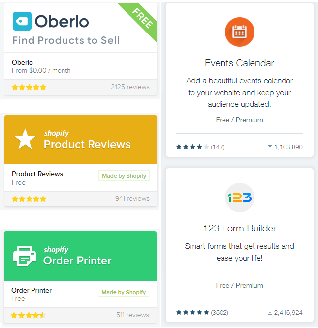 There are thousands of apps and add ons for shopify and wix stores