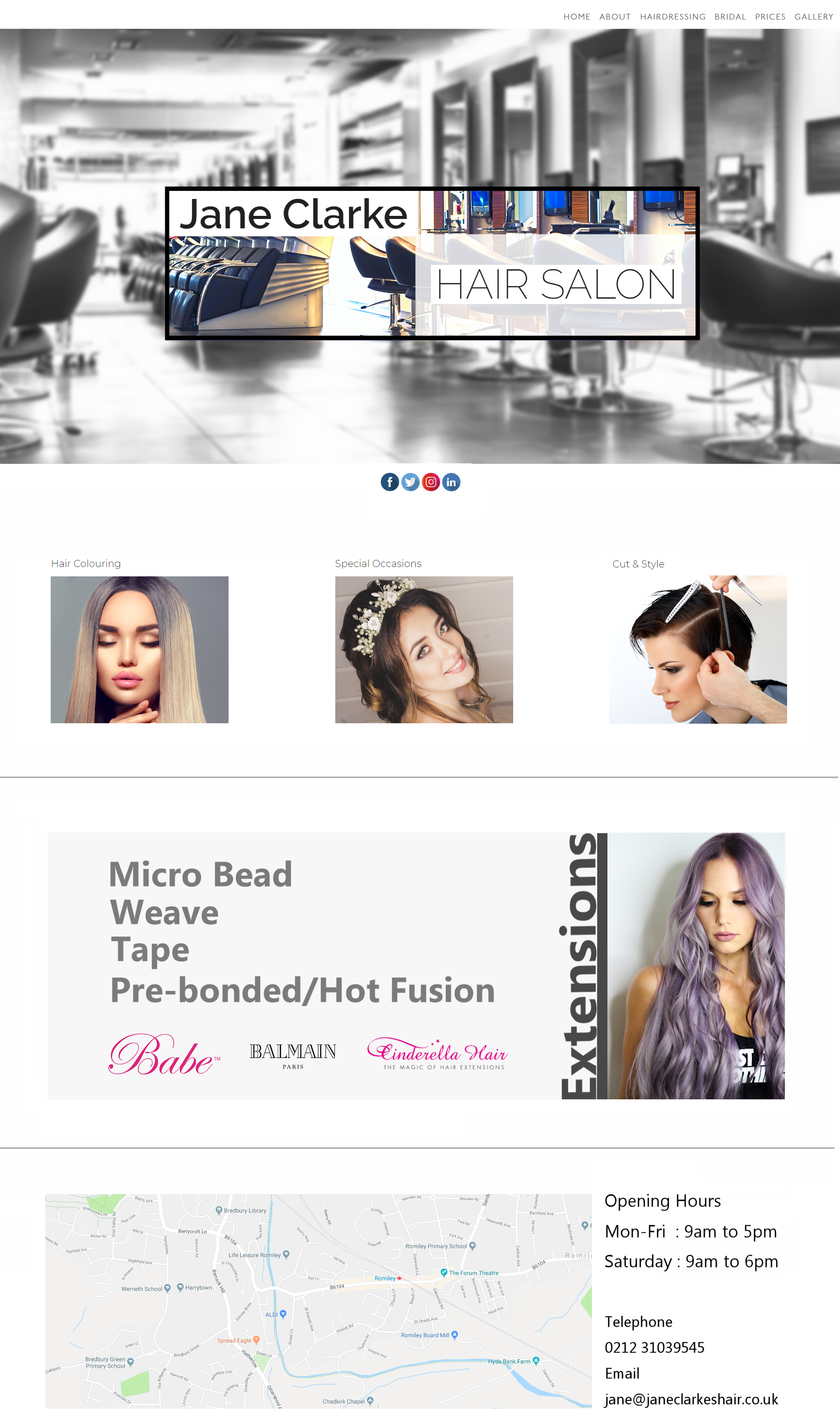 Template example style for a salon
