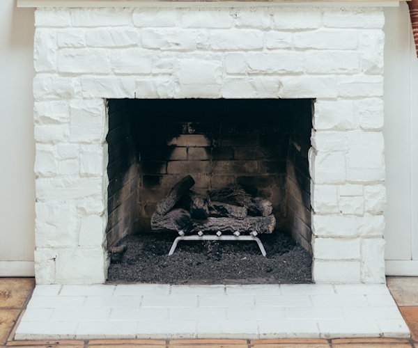 Open hearth designer fire ideal for a chimney sweeping cleanup